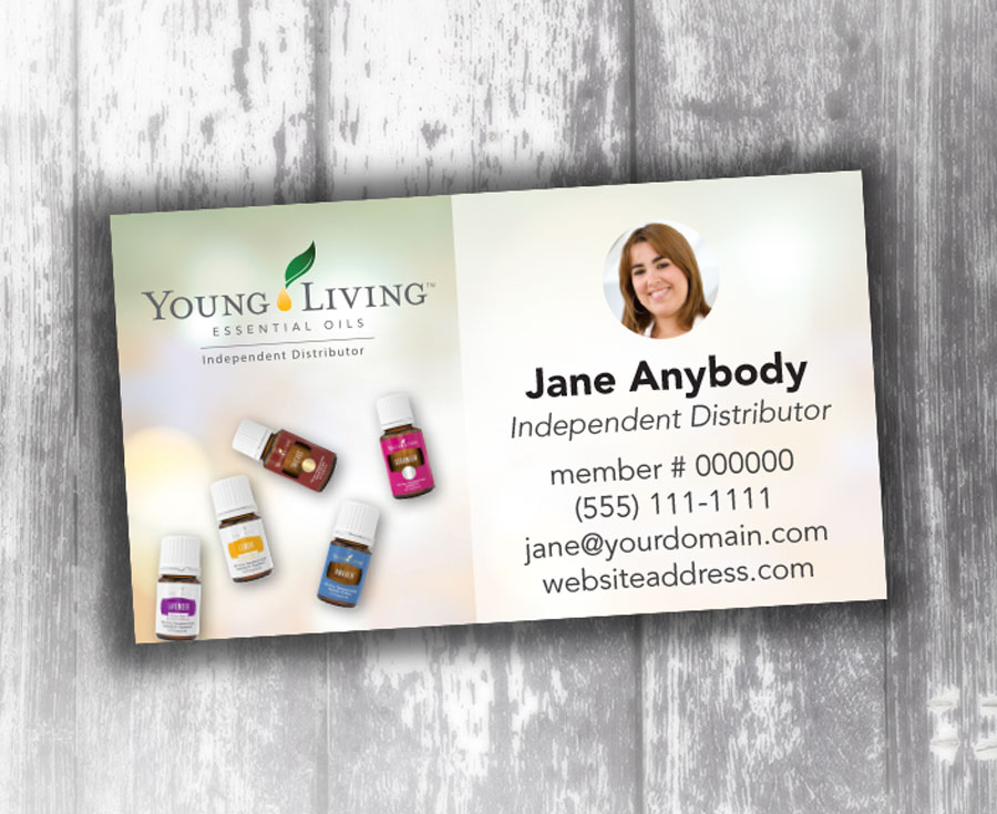 Young Living Business Bokeh Oily Cards Young Living Business Cards