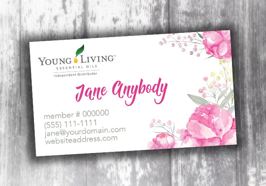 Home page oily cards young living business cards young living business card watercolor rose colourmoves